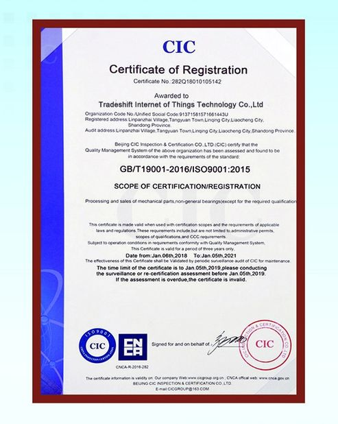 Chine Silurian Bearing Factory Certifications